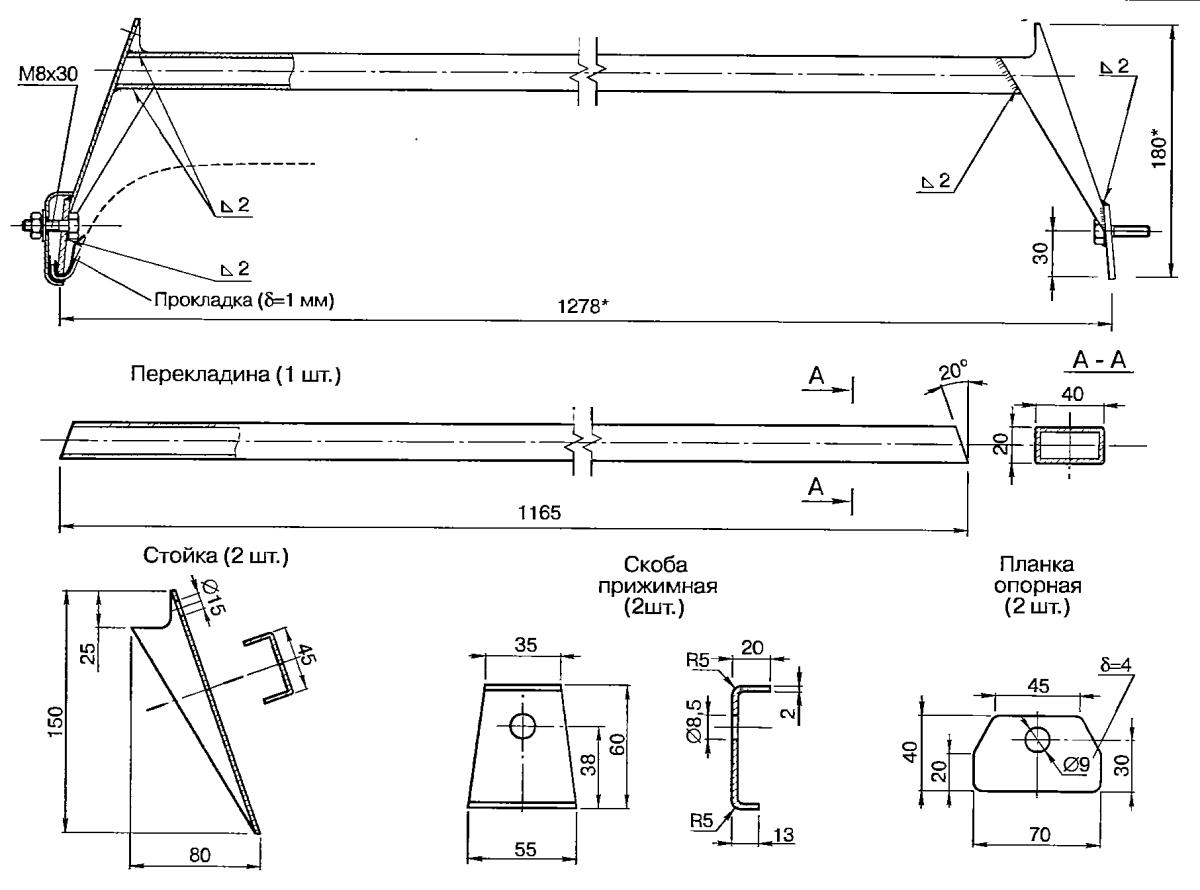 Размер багажника на крышу Ваз 2107